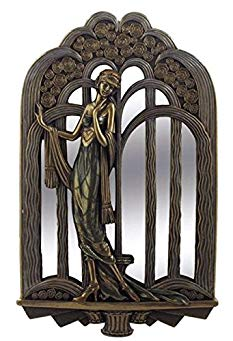 14.5 Inch Art Deco Wall Mirror Fashion Lady Interior Design Decor Gift